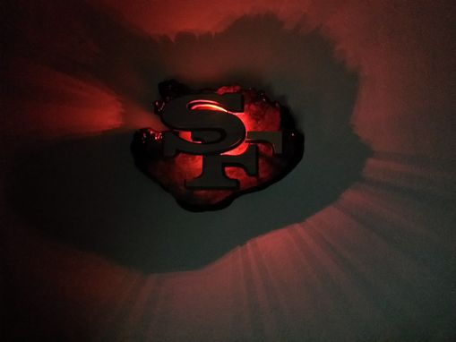 Custom Made Abstract  San Francisco 49ers Logo With Red Led Lights