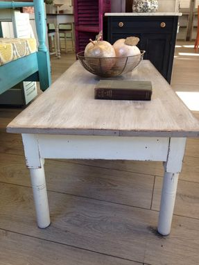 Custom Made Antique Drop Leaf Hand Made Rustic Coffee Table