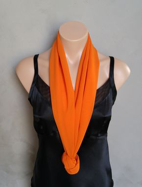 Custom Made Orange Chiffon Scarf