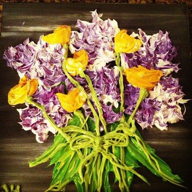 Custom Made Heavy Mediums Floral Paintings