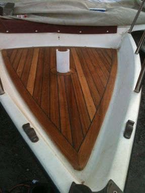 Custom Made Teak Boat Deck