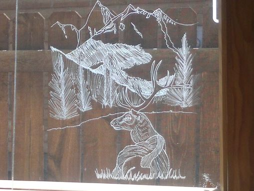 Custom Made Etched Glas ---- Freehand