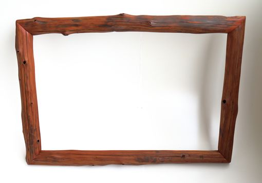 Custom Made Natural Edge Frames Created From Red Cedar Driftwood