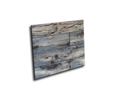 Custom Made #59 Decorative Distressed Memphis Style Wood Art Board