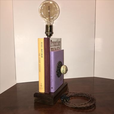 Custom Made Vintage Edison Book Lamp