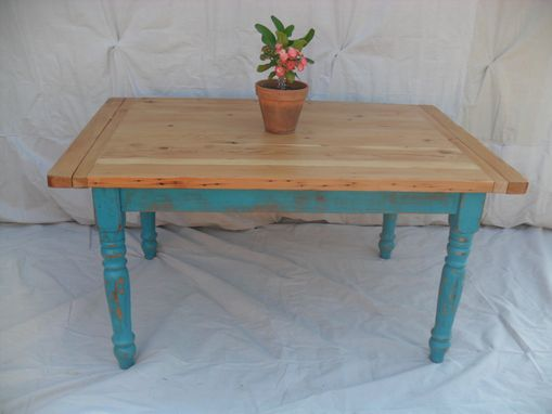 Custom Made Reclaimed Wood Farmhouse Dining Table