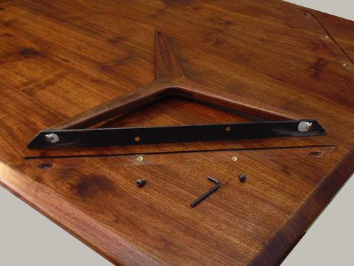 Custom Made Walnut Coffee Table Wishbone Leg Design.  Modern, Mid-Century, Danish Design Influence.