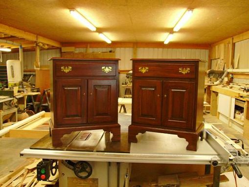 Custom Made Mahogany Nightstands