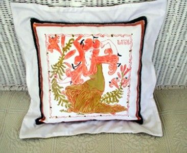 Custom Made Nouveau Lady Pillow