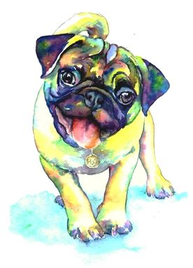 Custom Made Custom Pug Painting