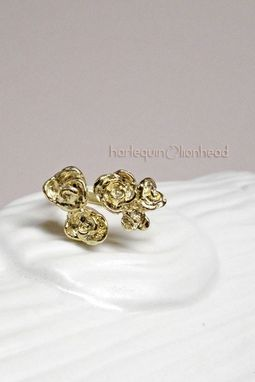 Custom Made Adjustable Rose Ring - Gold Plated