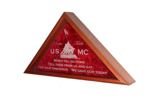 Custom Made M,Arine Corps Gifts, Marine Corps Flag Cases, Marine Corp Gift