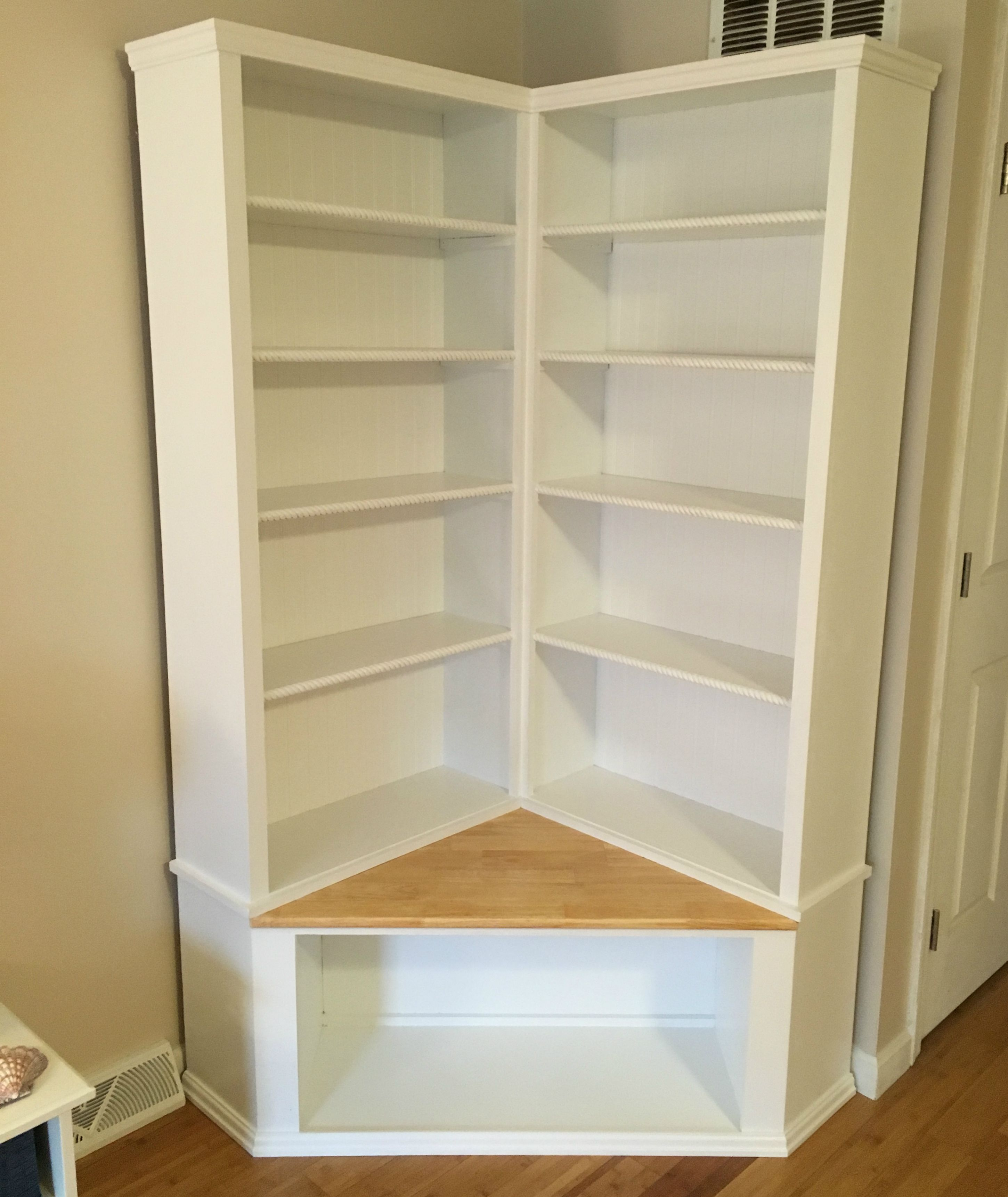Custom Made Shabby Chic Corner Bookcase With Seat By The Crabby Lion Custommade