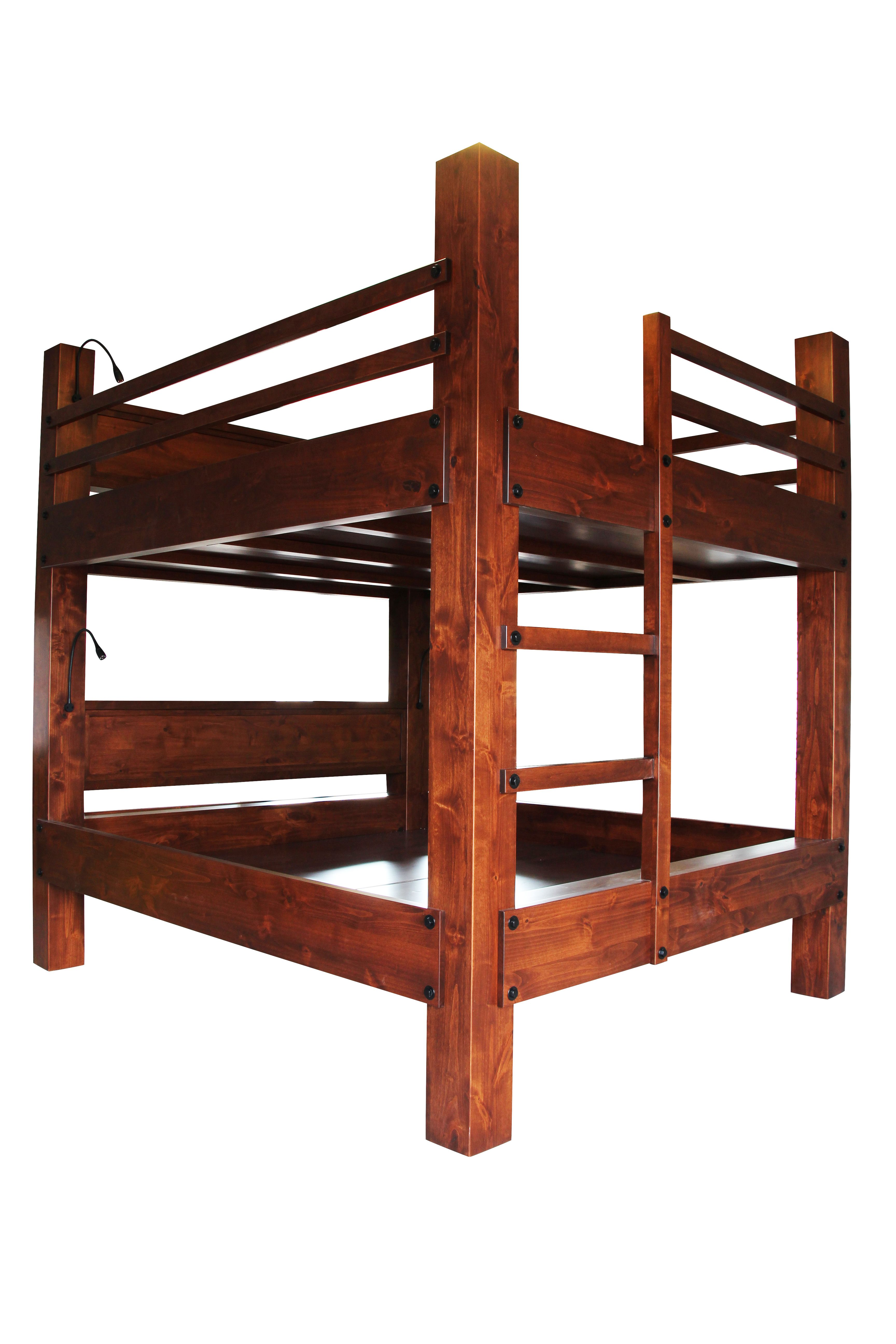 A Hand Made King Over Bunk Bed To Order From Haak Designs Llc Handmade Custom Furniture Custommade