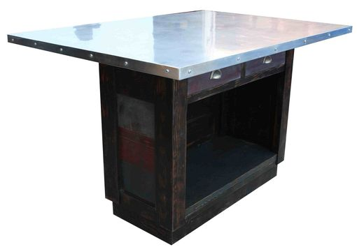 Custom Made Melanie, Custom Zinc Kitchen Island