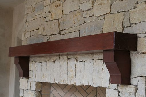 Custom Made Outdoor Fireplace Mantle