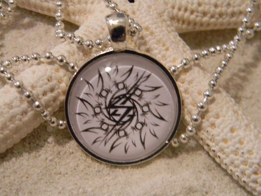 "Custom Made Custom 1"" Round Glass Bezel Pendant & Necklace"