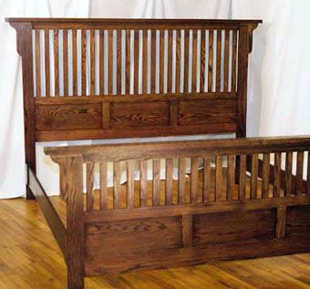 Mission Style King Bed In Soild OakHandmade Mission Style King Bed In Soild Oak by Blue Bench  . Mission Style Bedroom Furniture King. Home Design Ideas