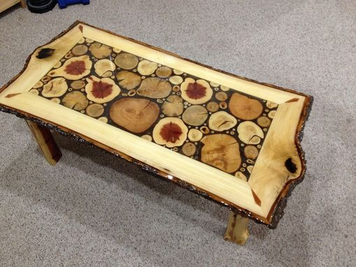 Custom Made Log Slice Coffee Tables