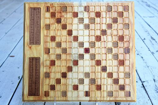 Custom Made Honey Locust Scrabble Board