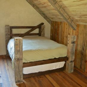 reclaimed post trundle bed by jonathan gerspach - Wooden Trundle Bed Frame
