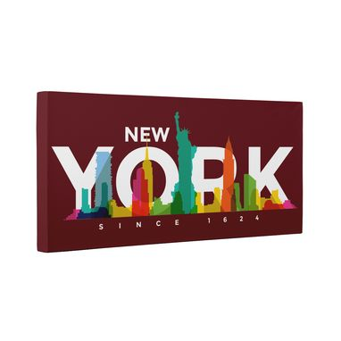 Custom Made New York Skyline Canvas Wall Art