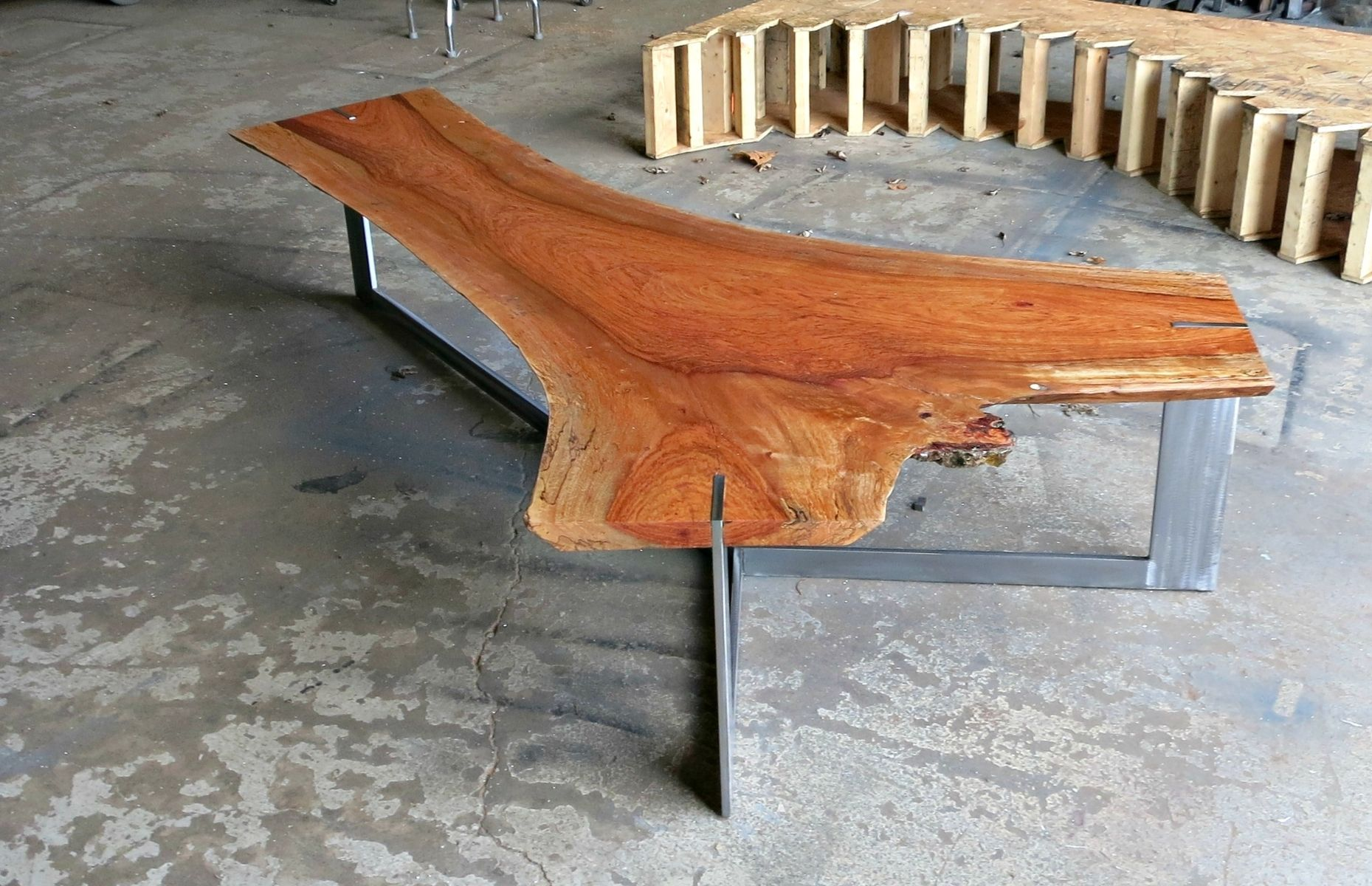 Hand Crafted Jatoba Live Edge Coffee Table By Donald Mee