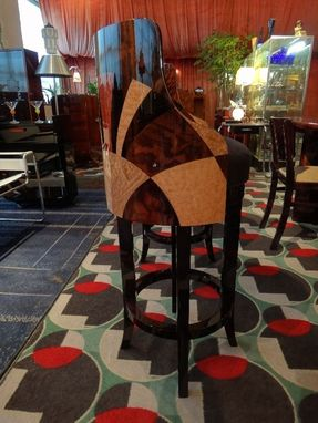 "Custom Made Chrysler Building ""Elevator Door"" Custom Bar Stools"