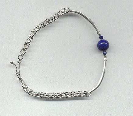 Custom Made Woman Or Man Handmade Fine Silver Bracelet