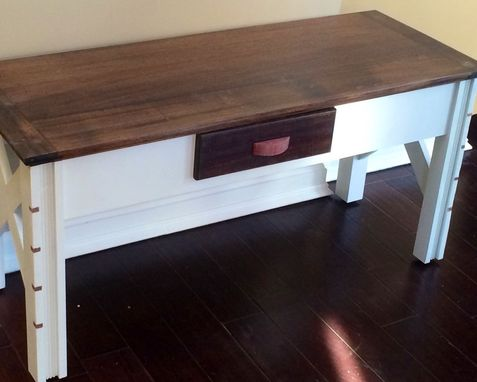 Custom Made Country Living Collection: Classic Mahogany Console Table