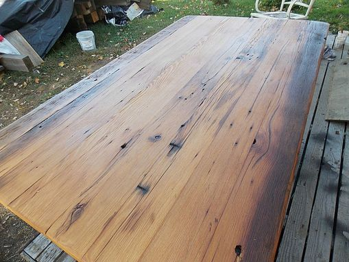 Custom Made Trestle Base Heavy Farmhouse Table