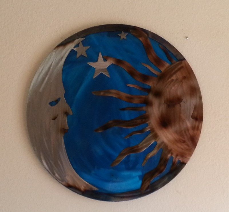 Hand Crafted Sun And Moon Wall Art by Superior Iron-Artz Llc ...
