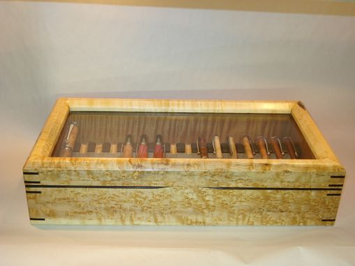 Custom Made Birdseye Maple Pen Display Case