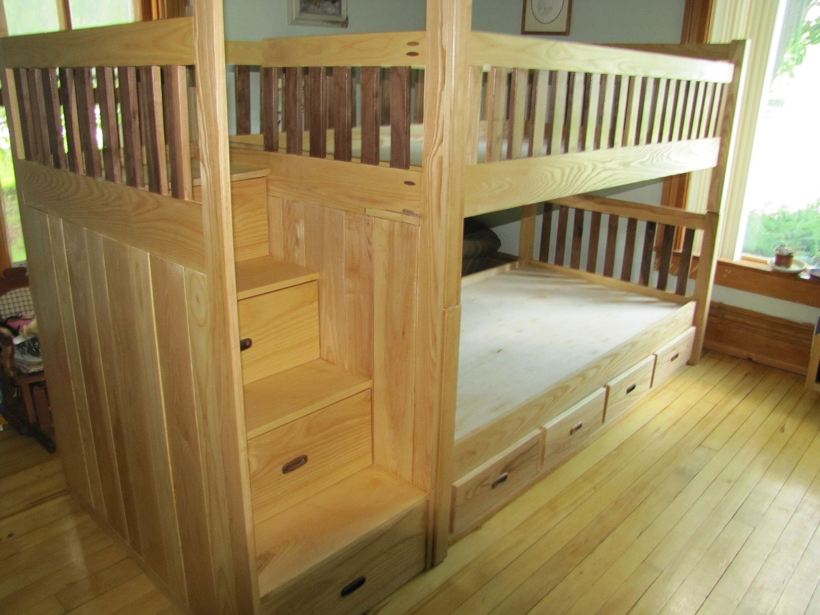 bunk bed by weber wood designs llc - Enclosed Bed Frame