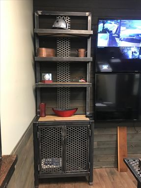 Custom Made Custom Metal Bookcase