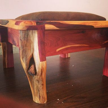 Custom Made Reclaimed Cedar Footrest Compartment