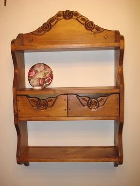 Custom Made Wall Shelf, With Two Drawers For Storage