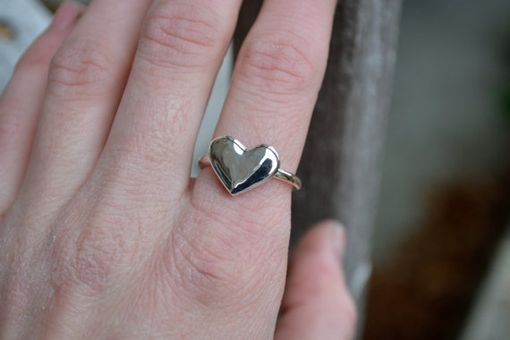 Custom Made Sterling Silver Heart Ring
