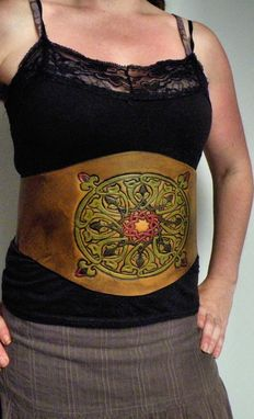 Custom Made Celtic Flower Under Bust Corset