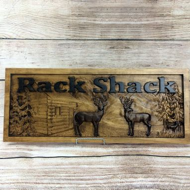 Custom Made Cabin Sign Custom Rustic Cabin Decor Personalized Man Cave Sign Established Camper Sign Lake House
