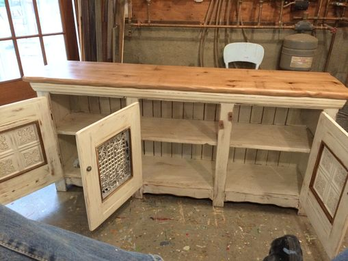 Custom Made Dining Room Buffet Sideboard W Native Oak Top