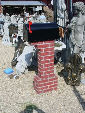 Custom Made Lifetime Concrete Faux Brick Usps Postal Mailbox Post, 2 Pcs.