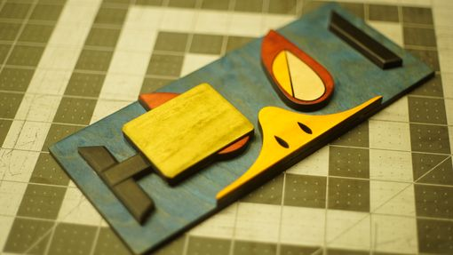 Custom Made Wooden Falco Icon