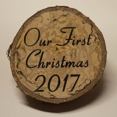 Custom Made Custom Rustic Christmas Tree Slice Ornaments