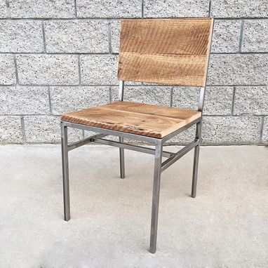 Custom Made Reclaimed Wood And Steel Dining/Desk Chair