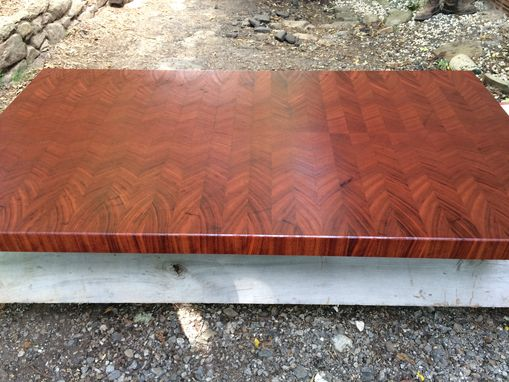 Custom Made End Grain Sapele Or Mahogany Island Top