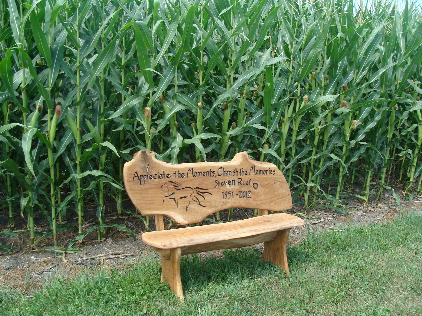 Hand Crafted Custom Engraved Rustic Bench By Covenant Creations Custommade Com