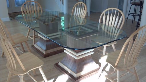 Custom Made Glass Table Pedestals