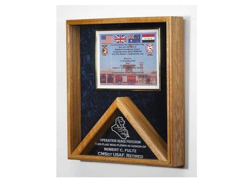 Custom Made Military Awards And Flag Display Cases