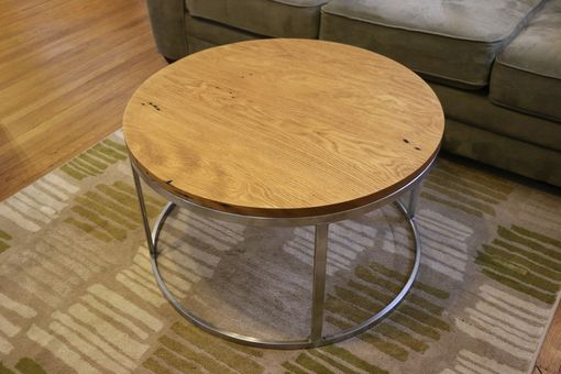 Custom Made Reclaimed Round Coffee Table